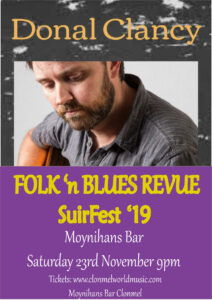 donal clancy suirfest 2019 212x300 - SuirFest, Live in Moynihans Friday 22nd to Sunday 24th November 2019